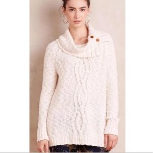 EUC Anthro Moth chunky knit button neck sweater